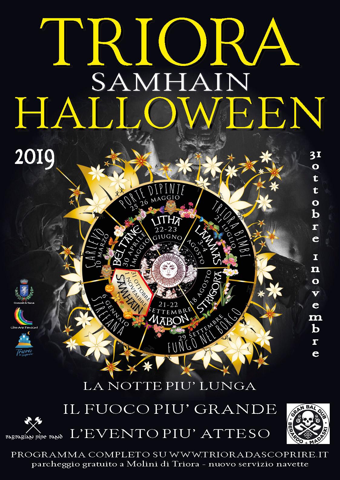 Triora Samhain 2019 – Halloween 31 ottobre -1 novembre