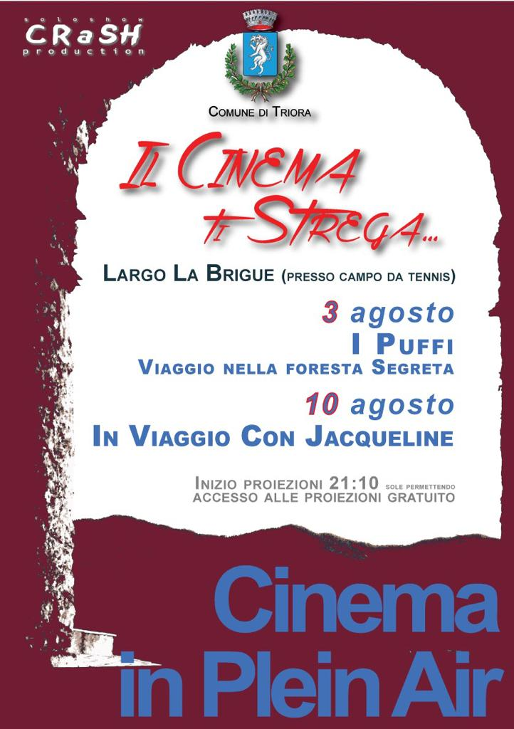 Cinema in Plein Air lunedì 3 e 10 agosto
