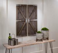 Wood Door Wall Decor - Home Decorating Ideas
