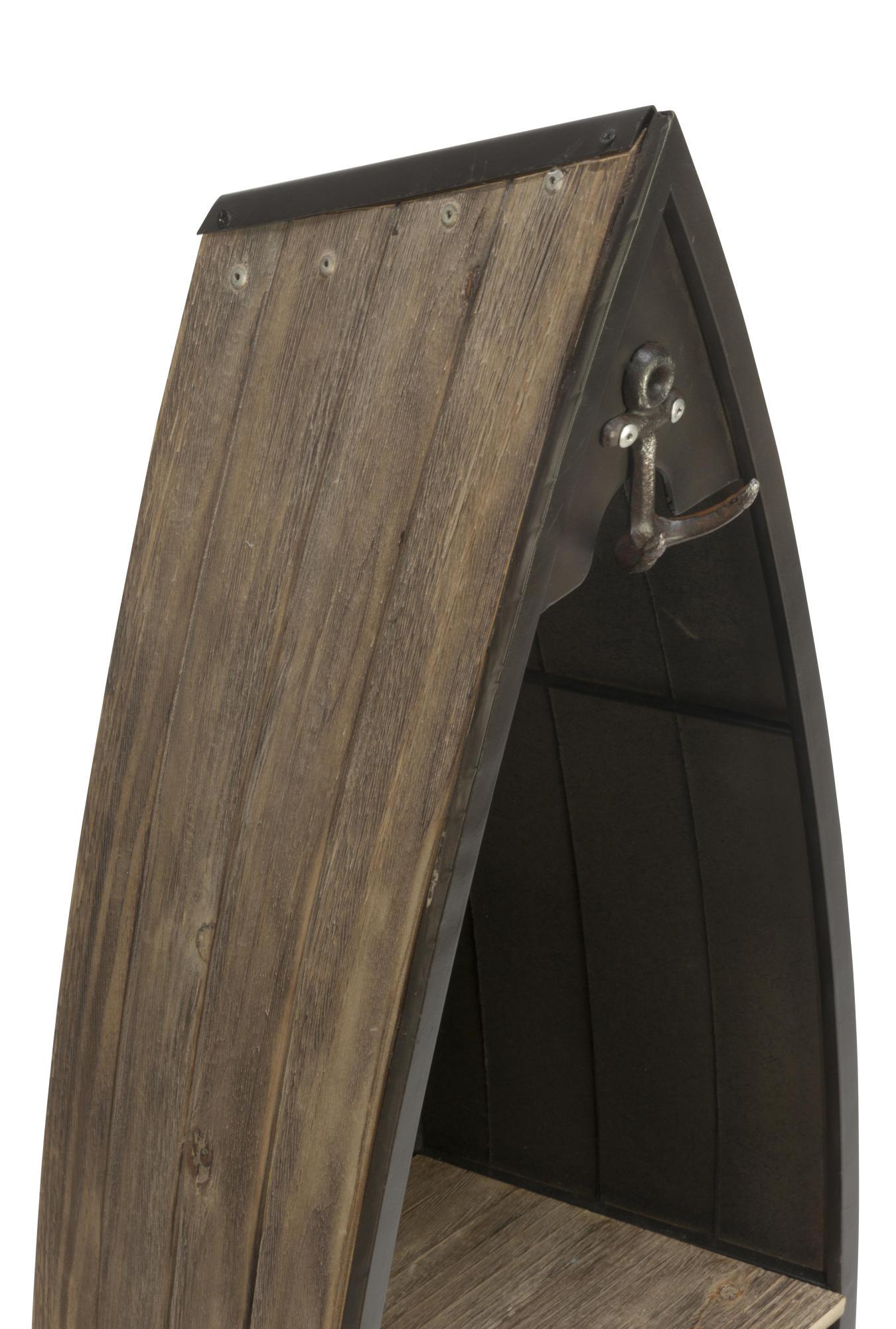 Decorative Wooden Boat Shelves Set Of 2 Tripar