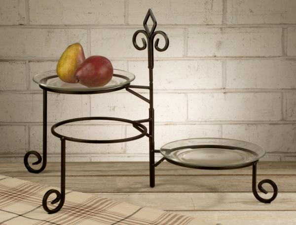 3 Tier Plate Stand Swivel