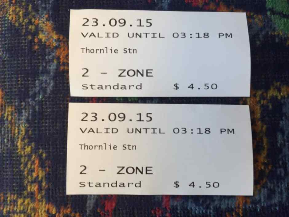 Nos tickets de train !