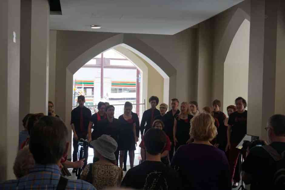 La chorale de Mary (Rhythmos) dans le Perth Town Hall