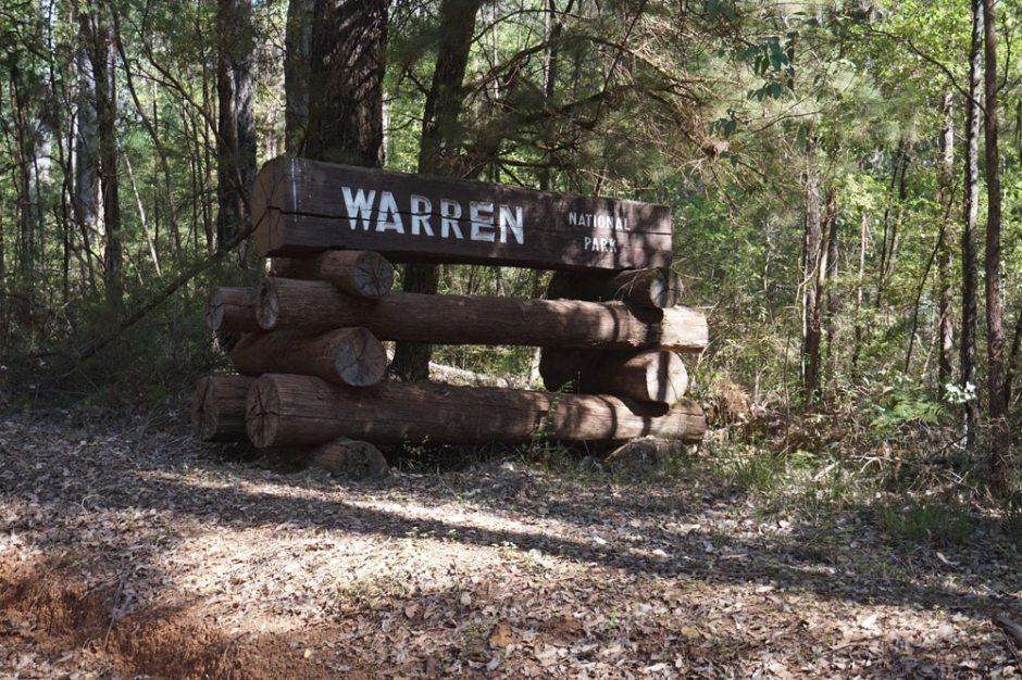 Entrée dans le Warren National Park