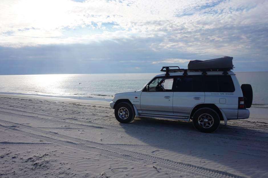 Première sortie sur le sable
