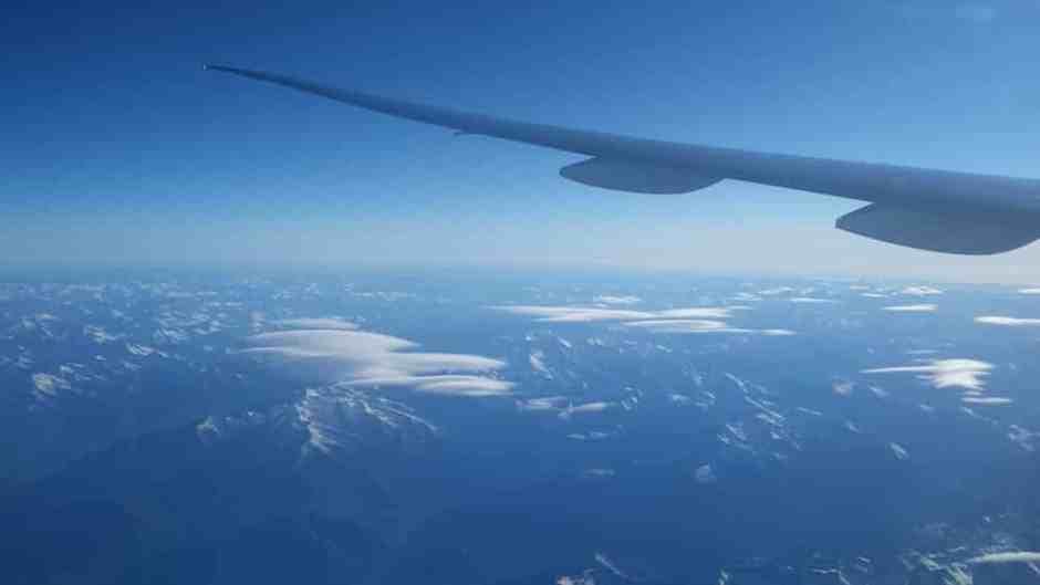 Passage au dessus des Alpes