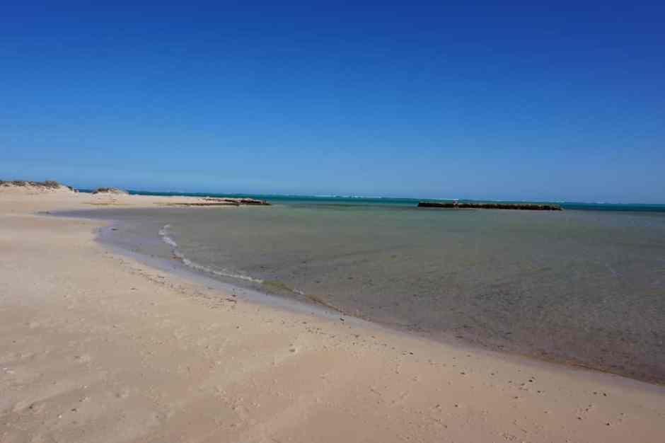 La plage est sublime mais sous l'eau nous n'avons pas vu beaucoup de choses