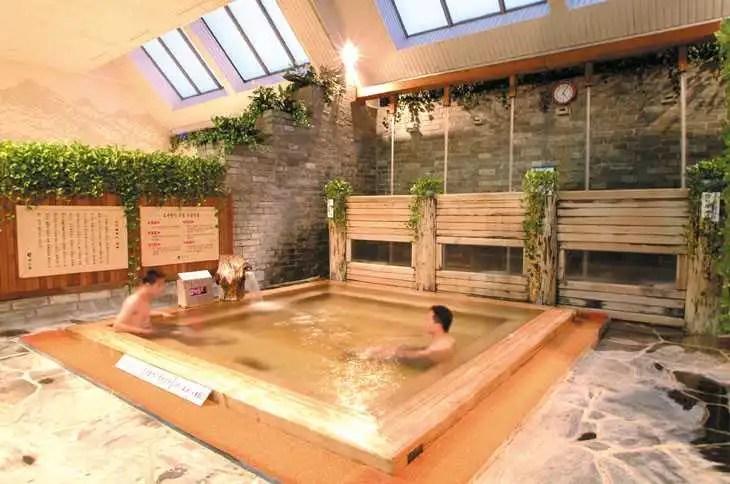 Men in a Korean Bathhouse