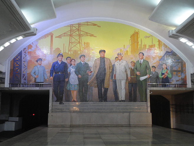 North Korean Subway Station