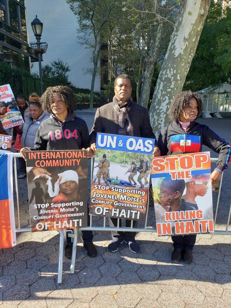 Manifestation de la diaspora devant l'ONU ce lundi 21 Octobre