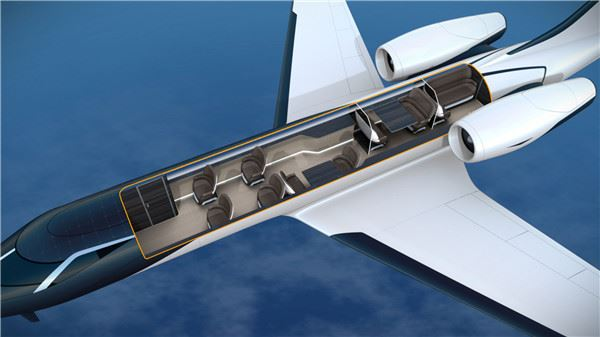 世界第一臺「全透明飛機」光看就腿軟 亂流一來乘客會被嚇暈吧? - TripGo 旅行趣