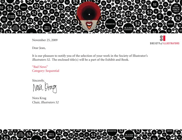Illustrator 52 admission letter