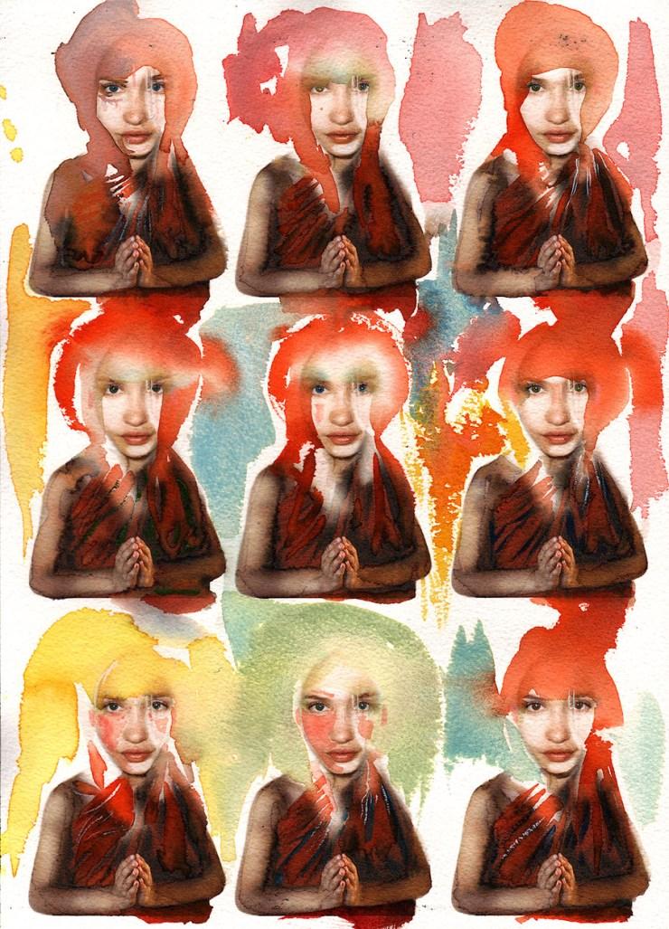 9 monks