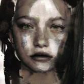 Green eyes - watercolor