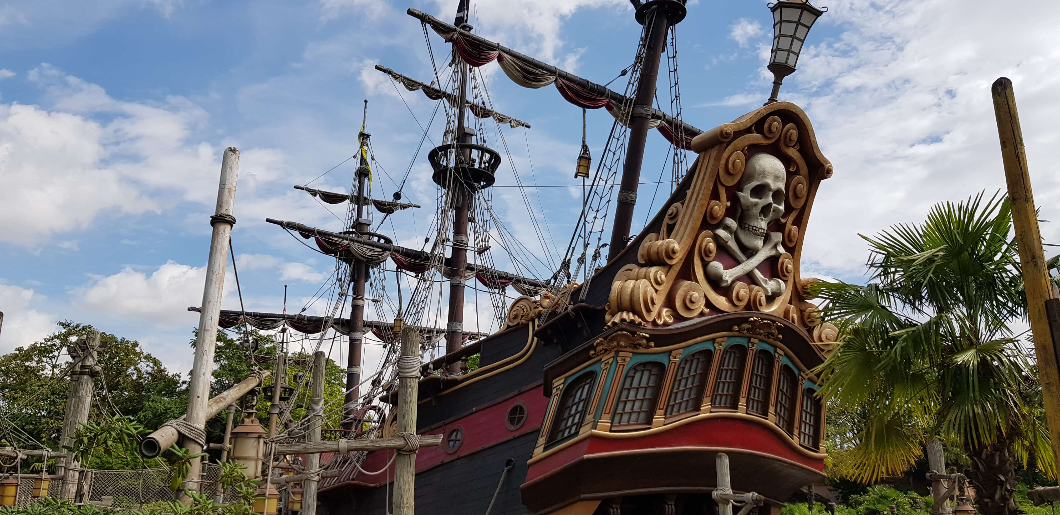 Pirate ship Adventureland Disneyland Paris