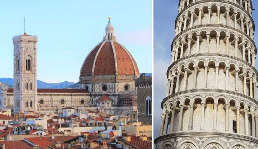 From Florence to Pisa easily by car and train 1