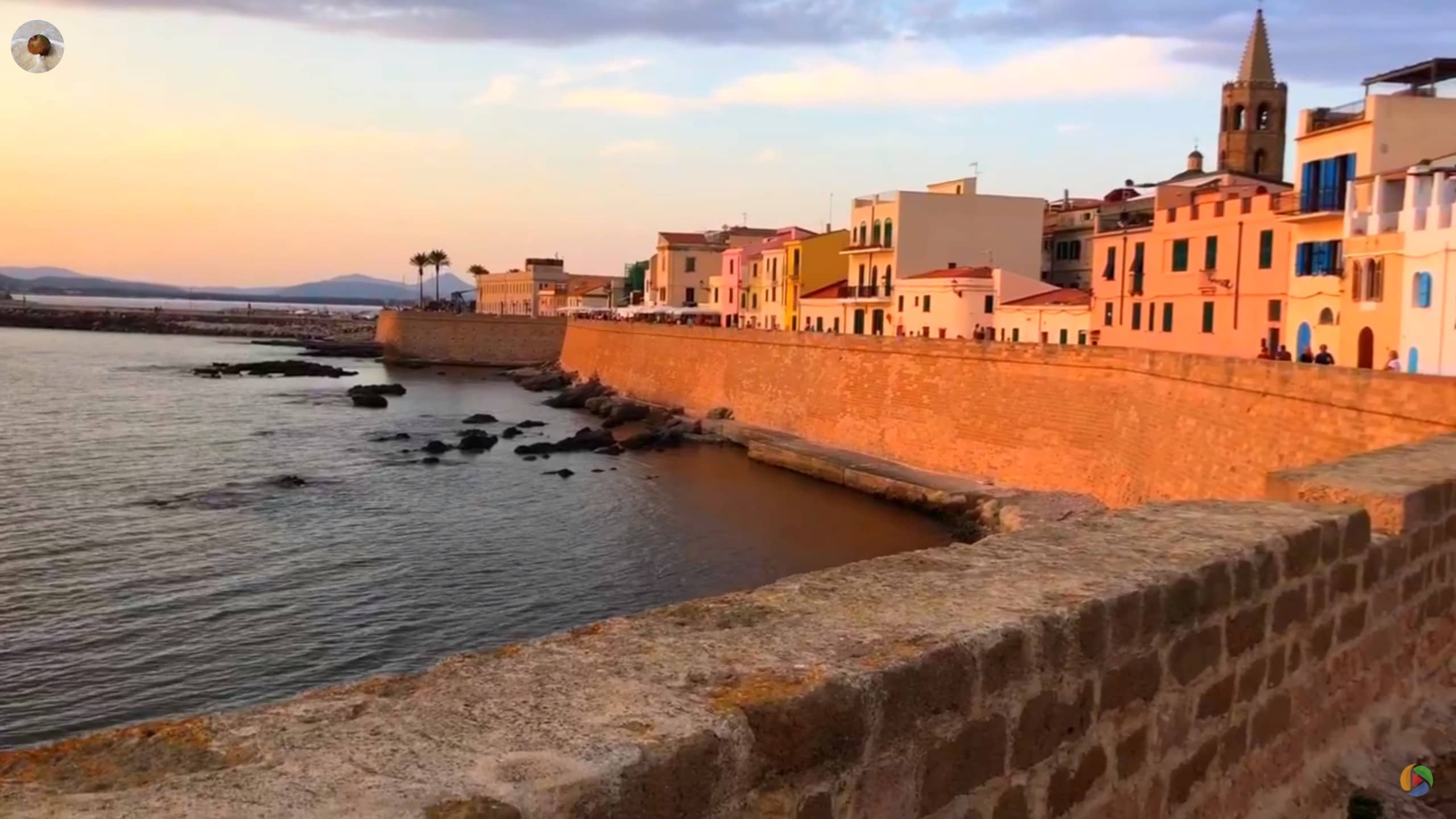 Video Sunset in Alghero Sardinia Italy
