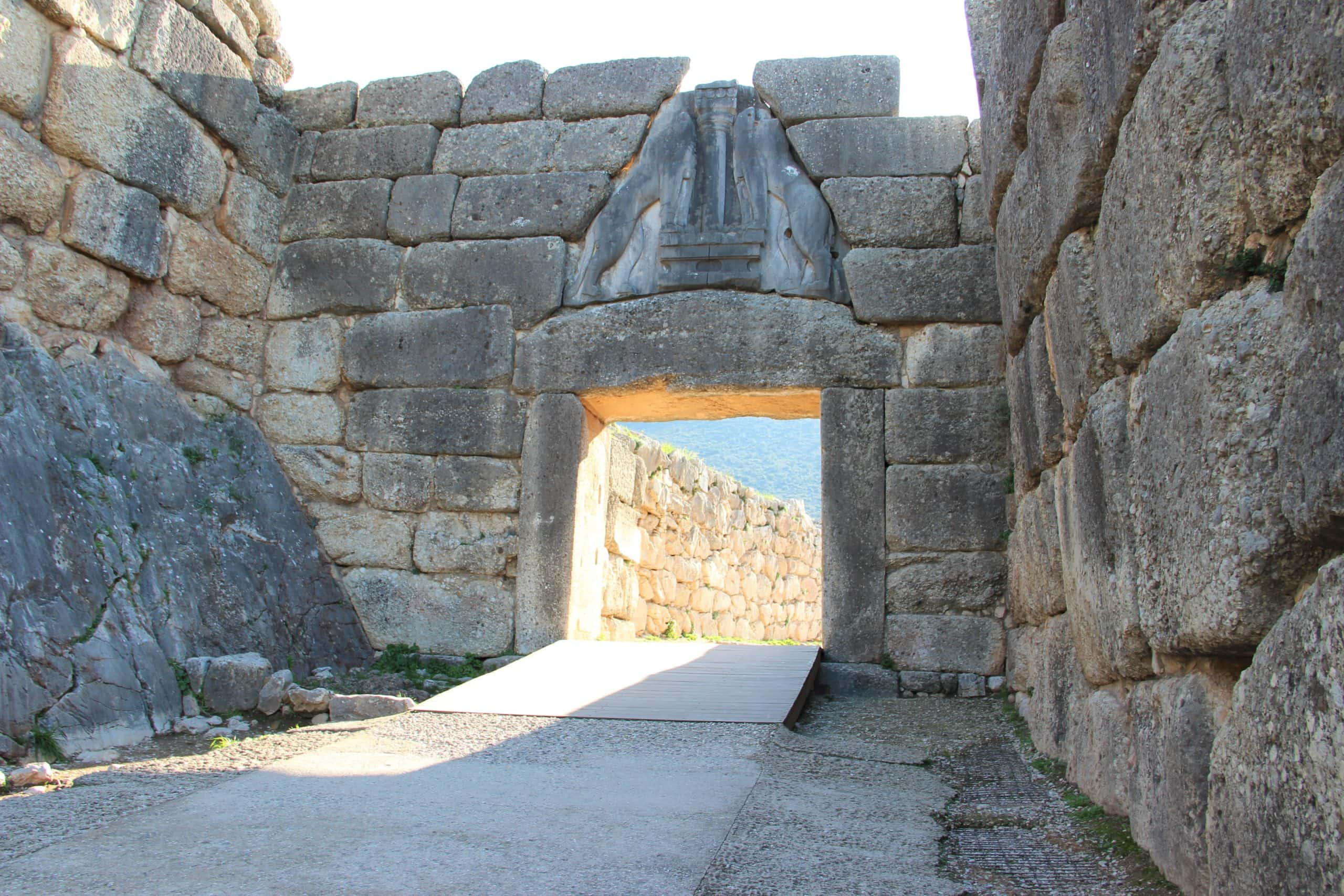 The Lion Gate Mycenae Ancient Greece