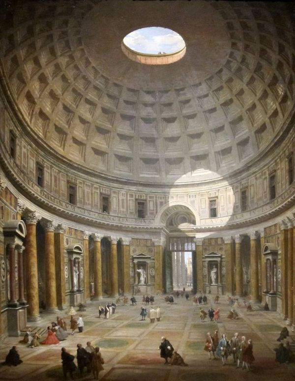 Discussion Of Interior Pantheon Panini In Cleveland Museum Art - Tripimprover