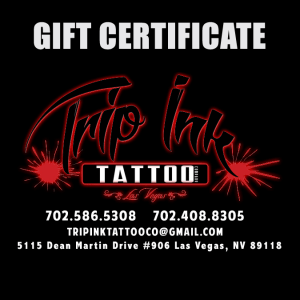 Trip Ink Tattoo Company Gift Certificate