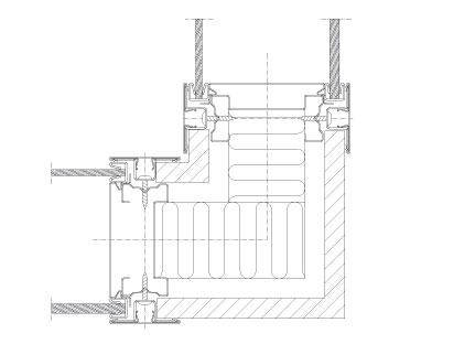 Drawings Flexica Line glass wall system