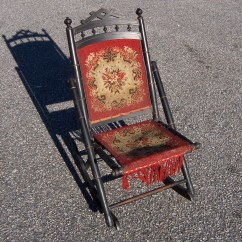 Old Fold Up Rocking Chair Folding Beach With Canopy Triple A Resale Antique Sewing
