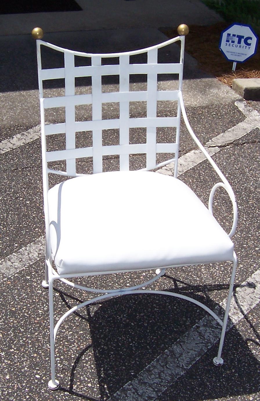 vintage salterini mid century wrought iron patio chair