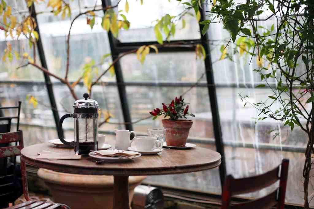 French Press on the Terrace