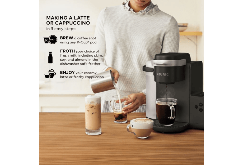 How To Make A Latte With A Keurig K Cafe