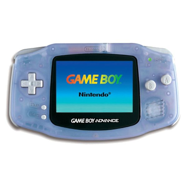 gameboy advance glacier blue