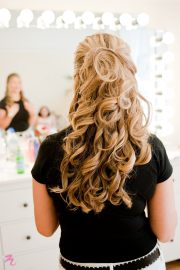 soft wavy curls bridal trial
