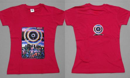 WOMENS T SHIRT UV Blacklight Glow In The Dark Psychedelic Psy Goa Trance Club EBay