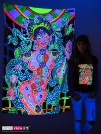 BACKDROP UV Blacklight Fluorescent Glow Psychedelic Art ...