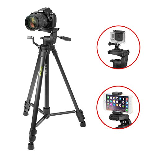 iKross 61-inch Professional Light Weight DSLR Tripod with
