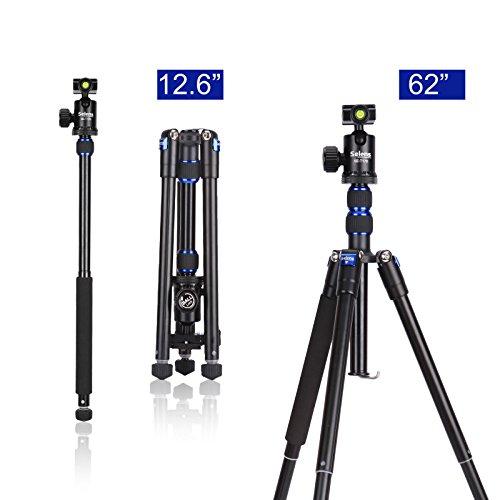 Selens T170 62in Professional SLR Camera Tripod / Monopod