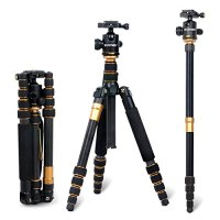 ZOMEi® Q666C Professional Carbon Fiber Tripod Monopod & Ball Head Portable Compact Travel