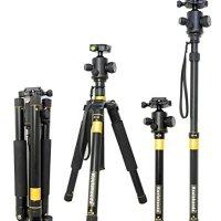 Koolehaoda® New K555 Portable Lightweight Tripod with Q02 Ball Head for All Camera