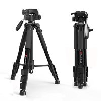 Tripod-Tairoad 55 Inch Aluminum Lightweight and Sturdy Travel Portable Tripod Monopod with 3-Way Swivel Pan Head and Carry Bag for DSLR EOS Canon Nikon Sony Samsung