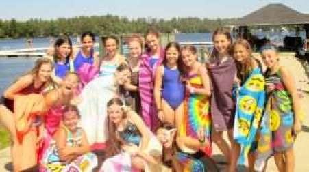 Girls at the lake