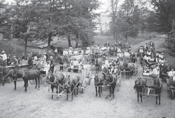 Tripp Lake Camp Arrival Day, 1911