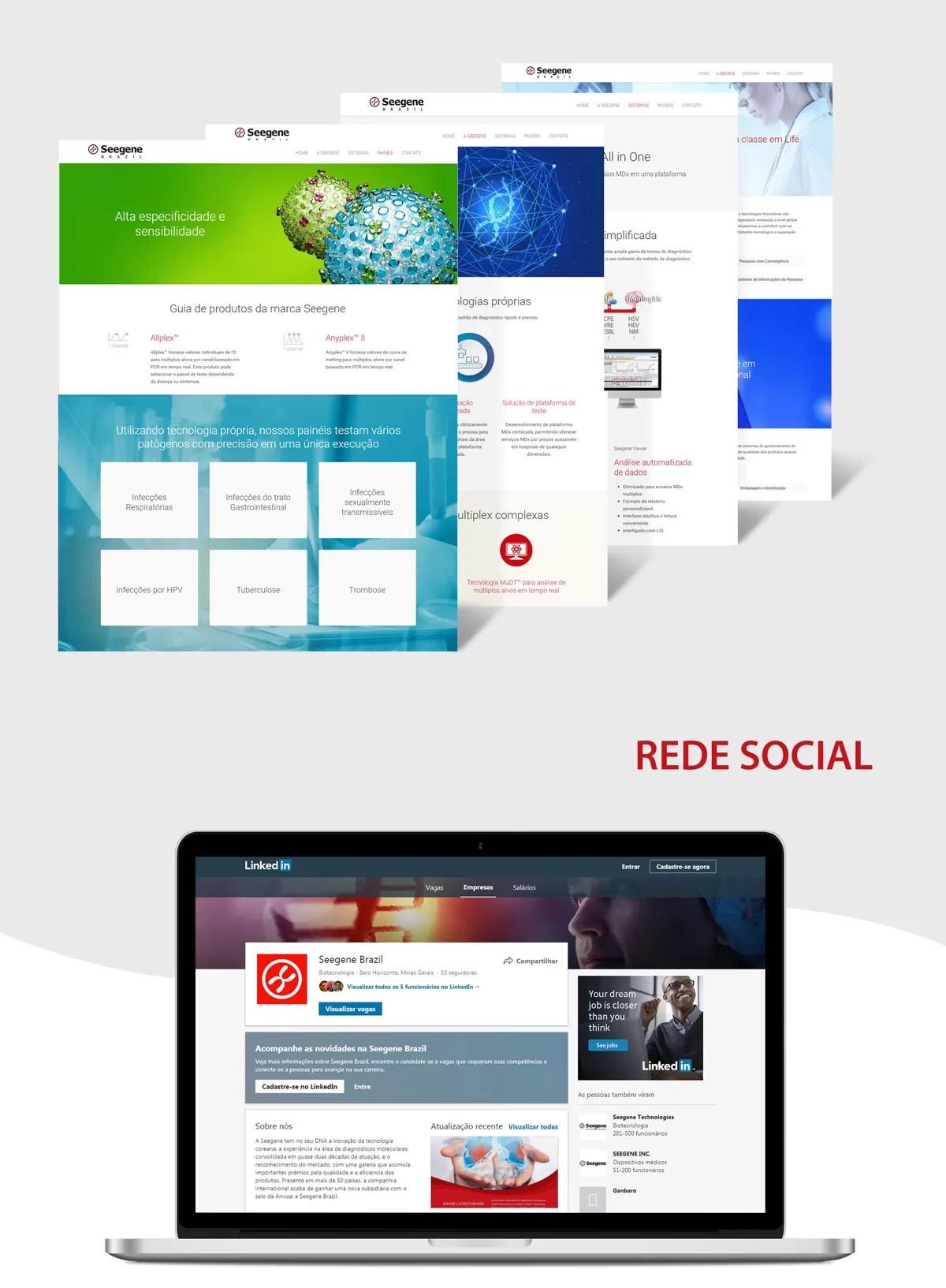 Company page Linkedin Seegene do Brazil