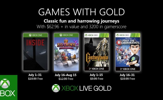 Games With Gold Gratis Spiele Für Juli 2019 Enthüllt