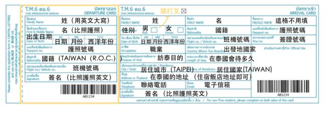超詳細 泰國入境卡教學 泰國旅遊必收藏 內含泰國簽證資訊