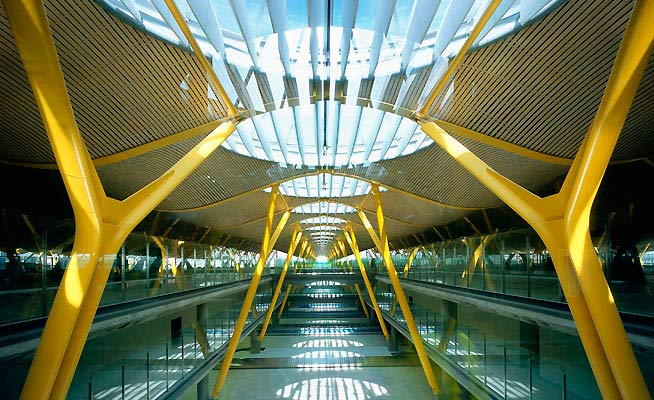 Terminal 4, Barajas Airport, Madrid, Spain