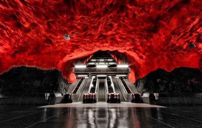 Cave Metro Station – Stockholm, Sweden