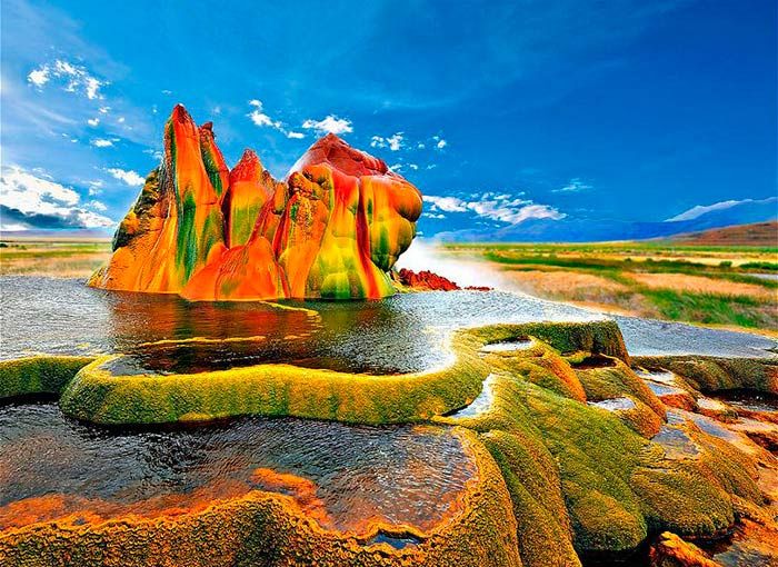 Fly Geyser in the Black Rock Desert, Nevada (US)