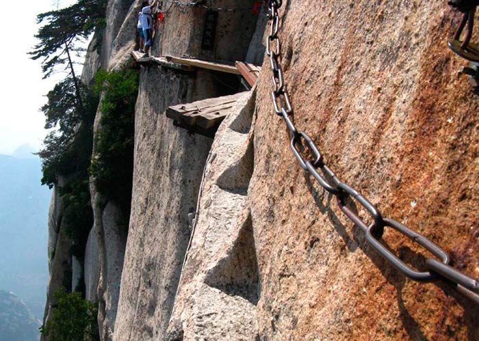 Mount Huashan Teahouse in China