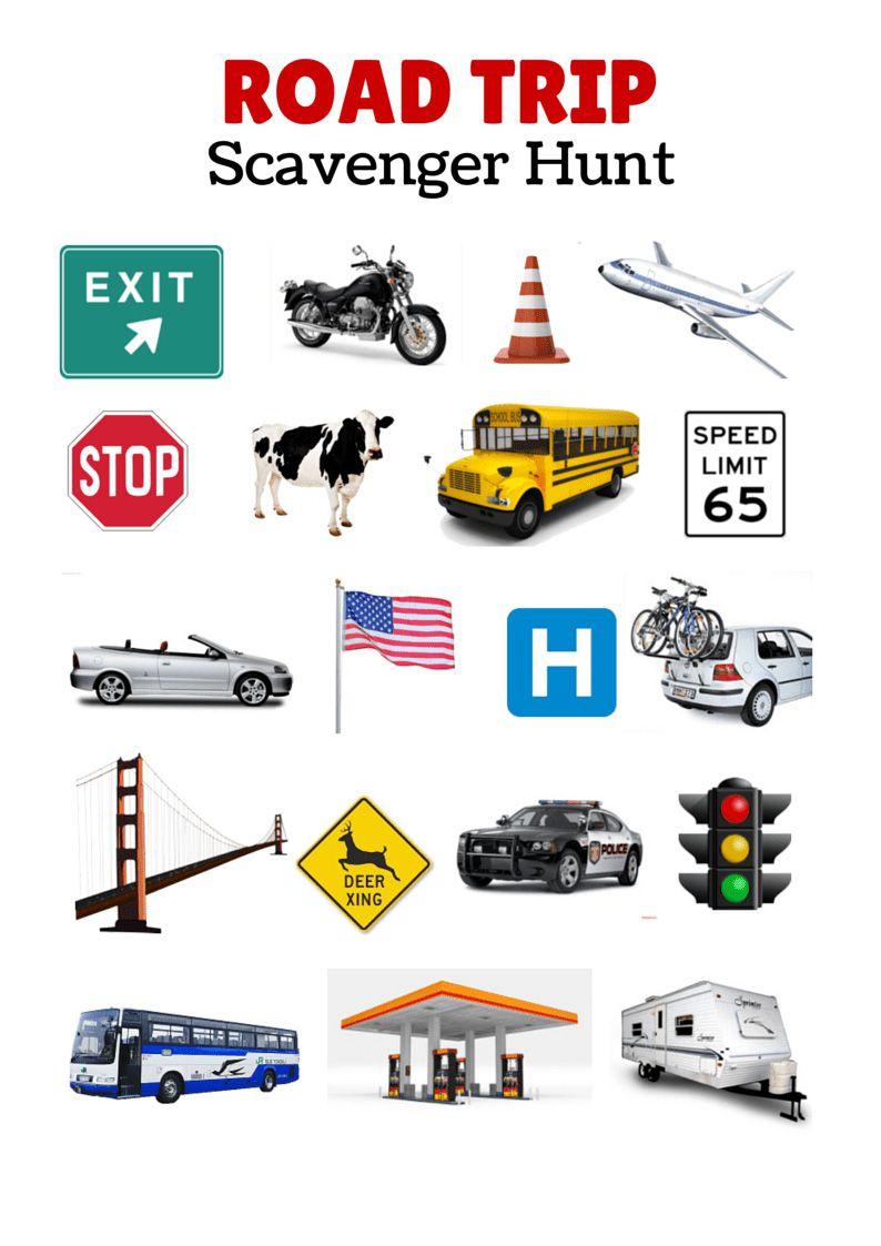 Scavenger Hunt Printable Car Game