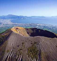 crater of volcanic mt vesuvius aerial view [ 1280 x 854 Pixel ]