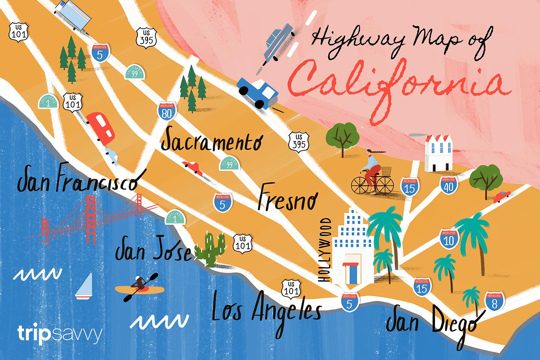 california road map highways